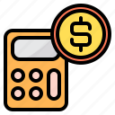 business, calculator, cash, math, tool icon