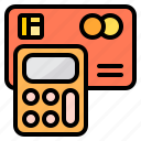 business, calculator, card, credit, tool icon