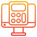 business, calculator, computer, tool icon