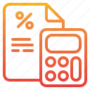 business, calculator, percentage, tool icon