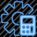business, calculator, setting, tool icon