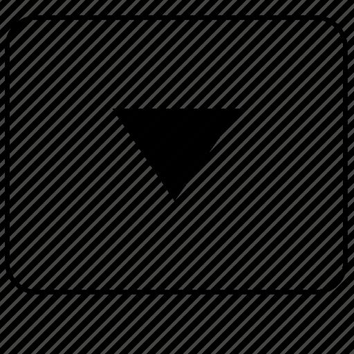 arrow, bottom, calculator, down, function, program, ui icon