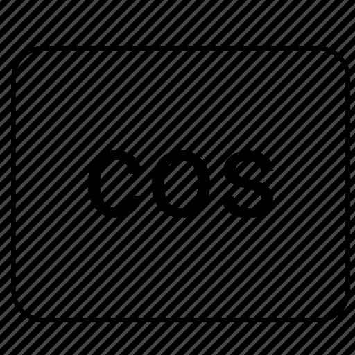 calculator, cos, cosinus, function, math icon