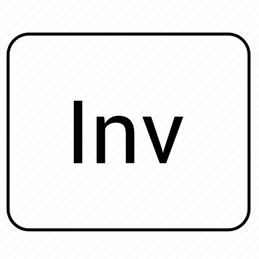 calculator, function, inv, math icon