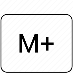 calculator, function, m, operation, plus, program icon