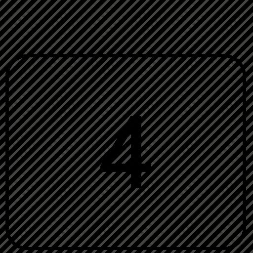 calculator, four, function, math icon