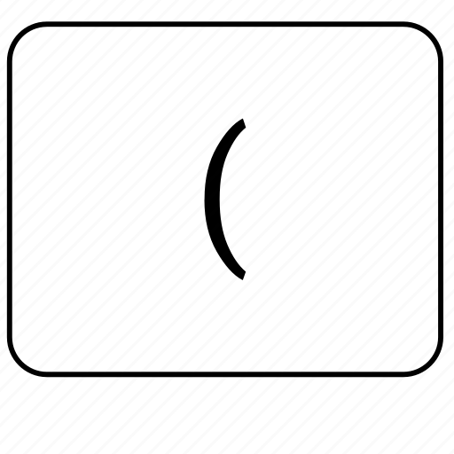bracket, calculator, left, math, mathematical icon