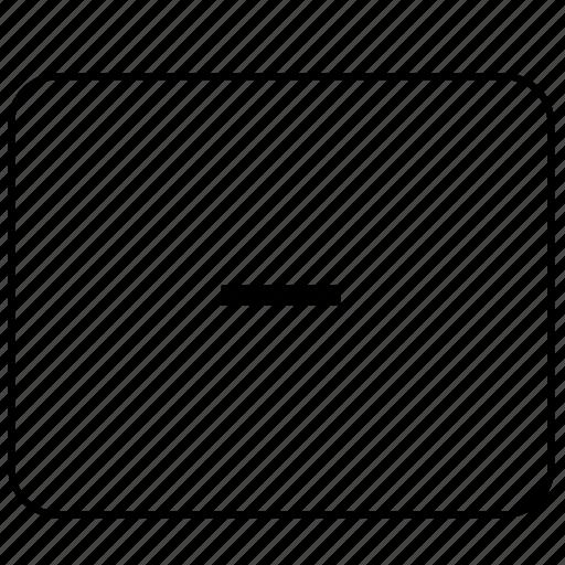calculator, function, math, minus, operation icon