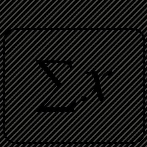 calculator, function, math, sum icon