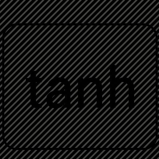 calculator, function, math, tanh icon