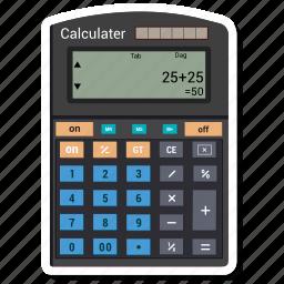 calculator, calculator machine, math, mathematics icon
