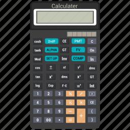 calc, calculating, calculator, digital icon