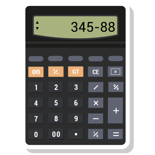 calculator, math, value icon