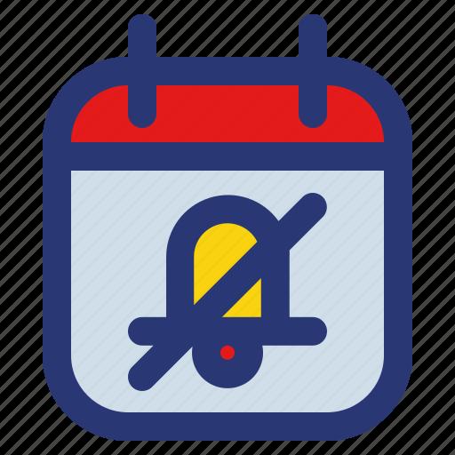 calendar, date, deadline, event, plan, schedule, silent icon