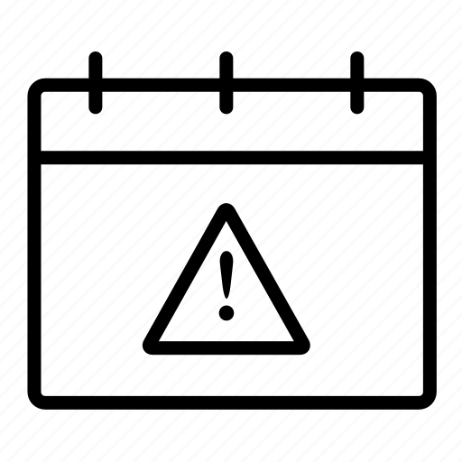 calendar warning, task reminder icon