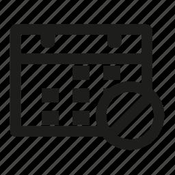 calendar, cross, date, forbidden, no, schedule icon