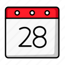 calendar, daily calendar, schedule, date, day, days