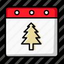 xmas, tree, date, winter, holiday, christmas, calendar