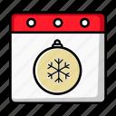 xmas, ornament, decoration, date, winter, christmas, calendar