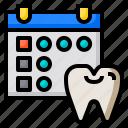 dentist, schedule, reminder, agenda, calendar, date