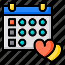 love, schedule, reminder, agenda, calendar, date