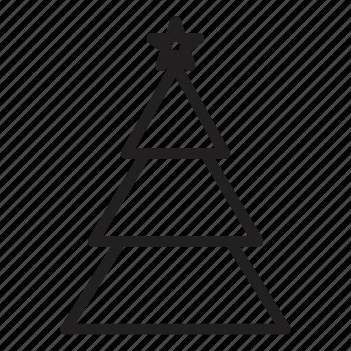 cristmas, holiday, tree icon