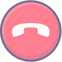 call, disconnect, end call icon