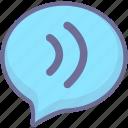 message, sound, voice icon
