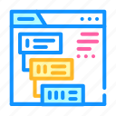 stages, communiction, operator, call, center, service icon