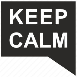 calm, keep, message icon