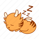sleep, good, night, tigeron, rest, sticker icon