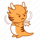 unhappy, disapproved, tigeron, frowning, displeasure, sticker icon