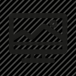 computer, edition, photo, photoshop, post production icon