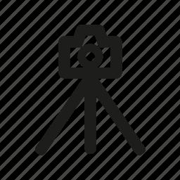 accesories, camera, media, photography, tripod icon