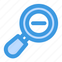 zoom, out, minus, smaller, magnifier, magnifying, search