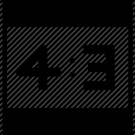 measurement, ratio, ratio4x3, resolution, size icon