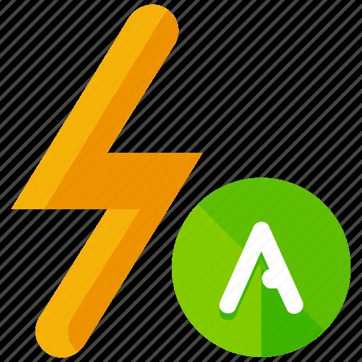 automatic, flash icon