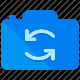 camera, reverse, rotate icon
