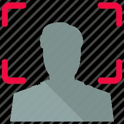 focus, portrait icon