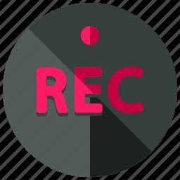 audio, camera, media, movie, music, record, video icon