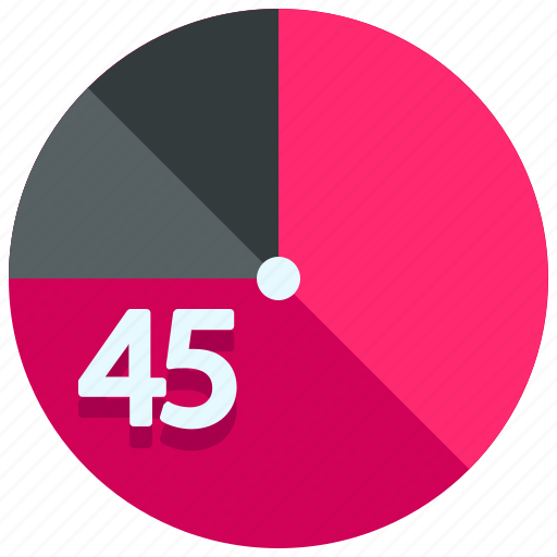 forty five, timer icon
