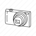 camera, canon, digital, photograph, photography, picture, point and shoot icon
