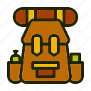 adventure, backpack, bag, camp, nature icon