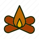 adventure, bonfire, camp, fire, nature