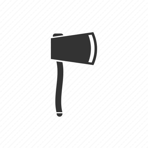 axe, camping axe, hatchet, hunting axe, tool icon