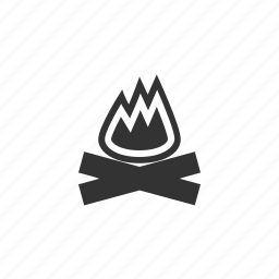 camp, camping, fire, forest, outdoor icon