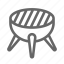 barbecue, camping, grill, grilled, stove icon