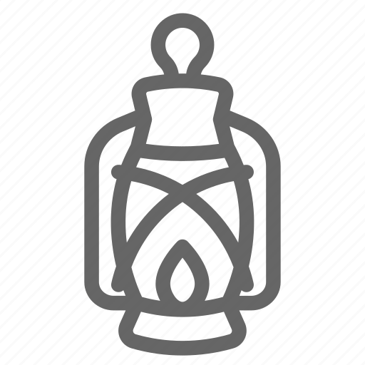 camping, lamp, outdoor icon