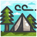 camping, climbing, equipment, tent icon