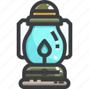 camping, equipment, lamp icon